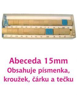 Razítka písmena 15 mm